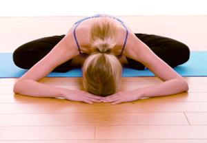 Easy Pose with Forward Fold