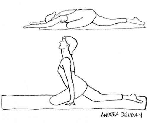 Line Drawing Yoga : Yoga poses for your it band andrea drugay