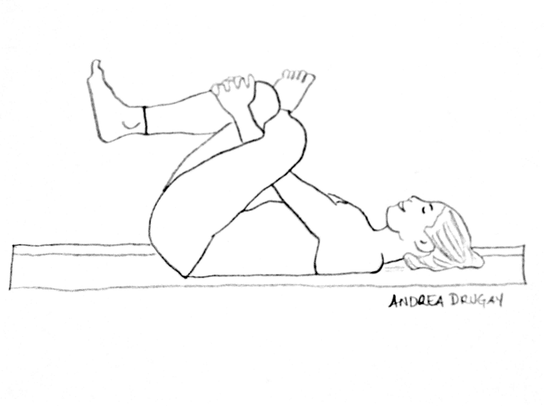 Line Drawing Yoga Pose : Yin yoga andrea drugay