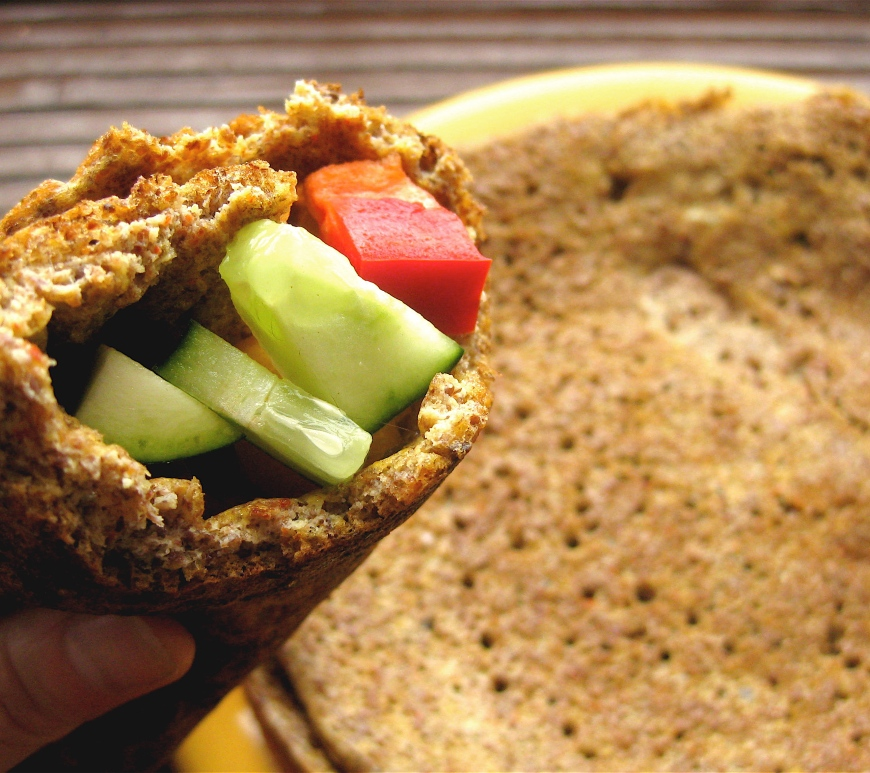 Easy Flaxseed Wrap (Gluten-Free) | This super-easy wrap from Wheat Belly is the perfect stand-in for a tortilla, pita, or bread. Click through to learn more!