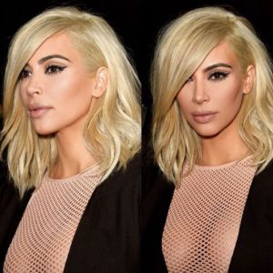 Kim K. goes platinum blonde