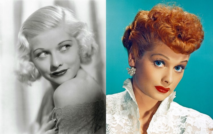 Lucille Ball's haircolor transformation