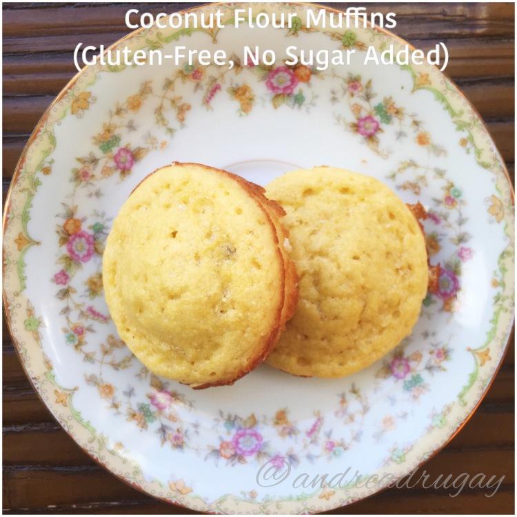 Coconut Flour Muffins (Gluten-Free, No Sugar Added)