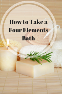 How to Take a Four Elements Bath | A Four Elements Bath is a fantastic way to nurture yourself while healing and grounding. Click through to learn more!