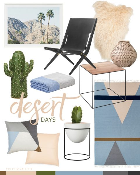Home goods in a desert palette